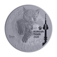 1 oz Silber Korean Tiger 2020 - max 33.000