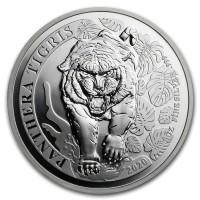 1 oz Silber Laos Tiger ( Panthera Tigris )  - max 10.000 ( diff.besteuert nach §25a UStG )