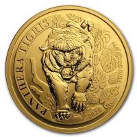 1 oz Gold Laos Tiger  ( Panthera Tigris ) inkl COA - max 100