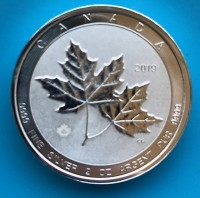 2 oz Silber Royal Canadian Mint Piedfort Maple Leaf 2019 ( diff.besteuert nach §25a UStG )