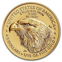 1/10 oz Gold USA American Eagle 2021- Type 2 / neues Design