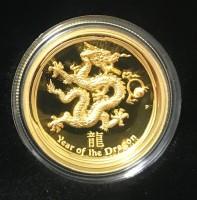 1 oz Gold Australien Ultra High Relief Drache inkl. Box / COA - max. 388