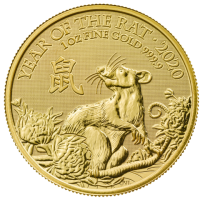 "1 oz Gold UK / Grossbritannien "" Lunar Mouse / Maus 2020 "" in Kapsel - Auflage 8.888"