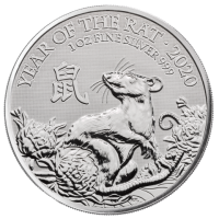 "1 oz Silber UK Royal Mint "" Lunar Mouse / Maus 2020 "" in Kapsel - max. Auflage 138.888 ( diff.besteuert nach §25a UStG )"