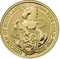 "1/4 oz Gold Royal Mint / United Kingdom "" Unicorn of Scotland """