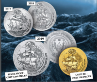 "1 oz Silber Ruanda Nautical Ounce "" Victoria "" 2019 ( inkl. gültiger gesetzl. Mwst )"