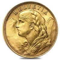 20 SFRS Vreneli ( 5,81 Gramm Gold fein ) - div Jahrgang