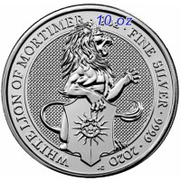 "10 oz Silber Royal Mint / Queen's Beast "" Lion of Mortimer "" in Kapsel ( diff.besteuert nach §25a UStG )"