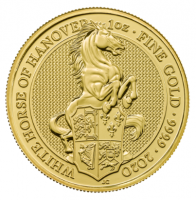 "1 oz Gold Royal Mint / United Kingdom "" White Horse of Hannover """