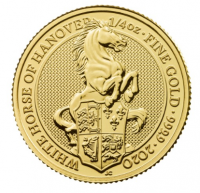 "1/4 oz Gold Royal Mint / United Kingdom "" White Horse of Hannover """