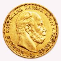 20 Mark Kaiserreich Wilhelm I - 7,16 Gramm Gold fein