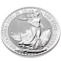 10 oz Silber Royal Mint / Britannia 2021 in Kapsel ( diff.besteuert nach §25a UStG )