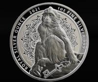 """1 oz Silber Gibraltar """" Berberaffe """"  in Kapsel - max 50.000 Stk ( diff.besteuert nach §25a UStG )"""