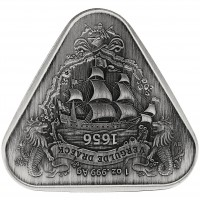 "1 oz Silber Antique Finish Australien "" Australian Shipwreck Series - Gilt Dragon in Kapsel 2020 - max. 1.000 Stk ( diff.besteuert nach §25a UStG )"