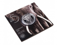 """1 oz Silber Elephant in Blister """" Big Five """" South African Mint - max 15.000 ( diff.besteuert nach §25a UStG )"""