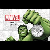 "1 oz Silber Perth Mint "" Hulk - Marvel Comics "" in Coincard - max 1.000 ( diff.besteuert nach §25a UStG )"