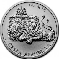 1 oz Silber Czech Lion 2019 - max. Mintage 25.000 ( diff.besteuert nach §25a UStG )