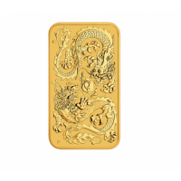 "1 oz Gold Perth Mint "" Dragon "" Gold Coin Bar 2020"