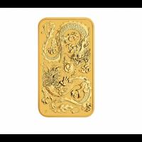 "1 oz Gold Perth Mint "" Dragon "" Gold Coin Bar 2020"
