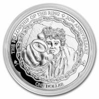 1 oz Silber New Zealand 20th Anniversary Herr der Ringe / Frodo - max 10.000 ( diff.besteuert nach §25a UStG )