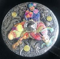 5 oz Silber Perth Mint Fu Lu Shou Antique Finish inkl. Box / COA - max 388 ( diff.besteuert nach §25a UStG )