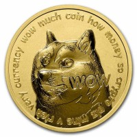 """1 oz Gold """" Dogecoin to the moon """" - USA"""