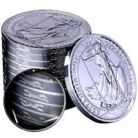 1 oz Silber Britannia 2014 UK Horse on Rim ( diff.besteuert nach §25a UStG )