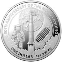 1 oz Silber Mondlandung in Kapsel Royal Australian Mint - max 25.000 ( diff.besteuert nach §25a UStG )