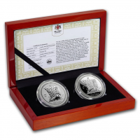 "2 x 1 oz Silber Isle of man Reverse Proof "" Noble Set PU & Reverse Proof "" 2018 in Kapsel - max. Auflage 500 inkl. Box / COA ( diff.besteuert nach §25a UStG )"