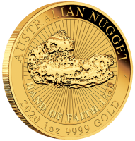 "1 oz Gold "" Hand of faith - Nugget "" Perth Mint 2020 in Kapsel - max 7.500"
