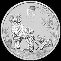 "2 oz Silber Perth Mint "" Lunar Tiger III 2022 "" in Kapsel  ( diff.besteuert nach §25a UStG )"