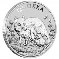 1 oz Silber Perth Mint Quokka 2021 - 2te Ausgabe ( diff.besteuert nach §25a UStG )
