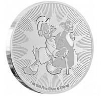"""1 oz Silber New Zealand Mint """" Scrooge McDuck / Dagobert Duck """" 2018 ( diff.besteuert nach §25a UStG )"""