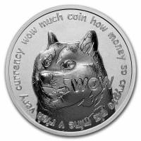 "1 oz Silber BU "" Dogecoin to the moon "" - USA ( inkl. gültiger gesetzl. Mwst )"