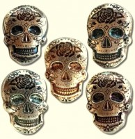 "2 oz Silber USA  Monarch Metals "" Skull Rose Bar ""  ( inkl. 19% Mwst )"