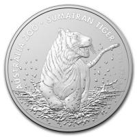 "1 oz Silber Australien "" Sumatra Tiger "" in Kapsel 2020 - max. 25.000 Stk ( diff.besteuert nach §25a UStG )"