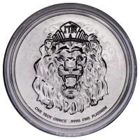 1 oz Platin Roaring Lion / Löwe Reverse Proof 2021 in Box / COA - max. 333 ( diff.besteuert nach §25a UStG )