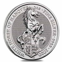 "10 X 2 oz Silber Royal Mint / United Kingdom "" White Horse of Hannover "" ( diff.besteuert nach §25a UStG )"