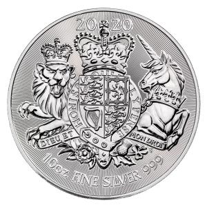 10 oz Silber Royal Mint Royal Arms 2020 1te Ausgabe in Kapsel ( diff.besteuert nach §25a UStG )