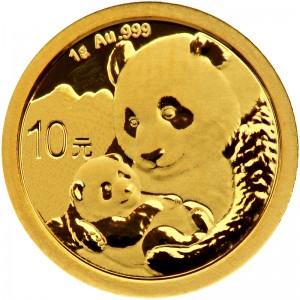 1 Gramm Gold Panda 2019 in Folie - 10 Yuan