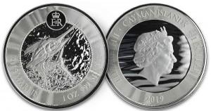 "1 oz Silber Cayman Islands "" Blue Marlin 2019 "" Scottsdale Mint / in Kapsel ( diff.besteuert nach §25a UStG )"