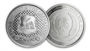 "1 oz Silber St. Vincent & the Grenadines 2020 "" Pax Et Justitia "" Scottsdale Mint / Prooflike in Kapsel ( diff.besteuert nach §25a UStG )"