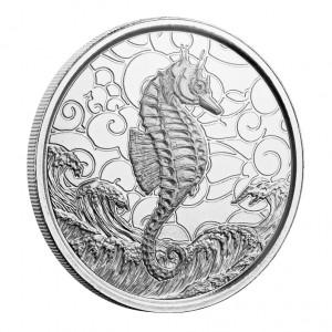 """1 oz Silber Samoa 2020  """" Seahorse / Seepferdchen """" dritte Ausgabe in Kapsel - max. Mintage 7.500 ( diff.besteuert nach §25a UStG )"""