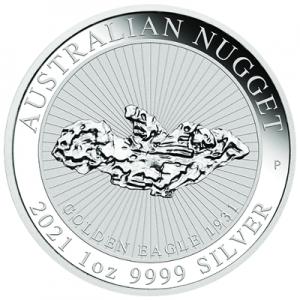 "1 oz Silber Perth Mint "" Nugget "" - Golden Eagle 2021"