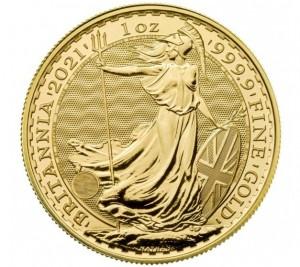 "1 oz Gold Royal Mint / United Kingdom "" Britannia 2021 mit Sicherheitsmerkmal  """