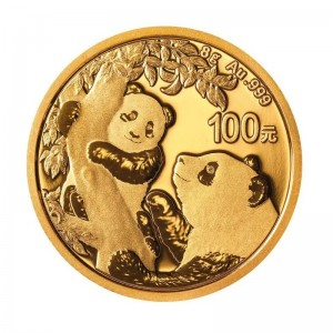 8 Gramm Gold Panda 2021 in Folie - 100 Yuan