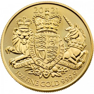 1 oz Gold UK Royal Arms 2021