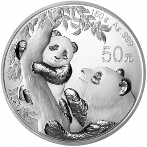 150 Gramm Silber Panda 2021 Proof inkl. Box & COA  ( diff.besteuert nach §25a UStG )