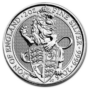 "2 oz Silber Royal Mint / United Kingdom "" Lion of England "" ( diff.besteuert nach §25a UStG )"