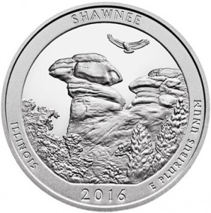 "5 oz Silber USA "" America the beautiful "" Illinois - Shawnee National Forest "" ( diff.besteuert nach §25a UStG )"